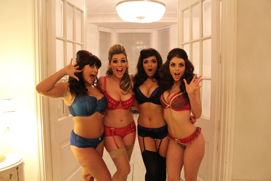 Curvy Kate Models Lizzie, Laura, Lauren and Julia
