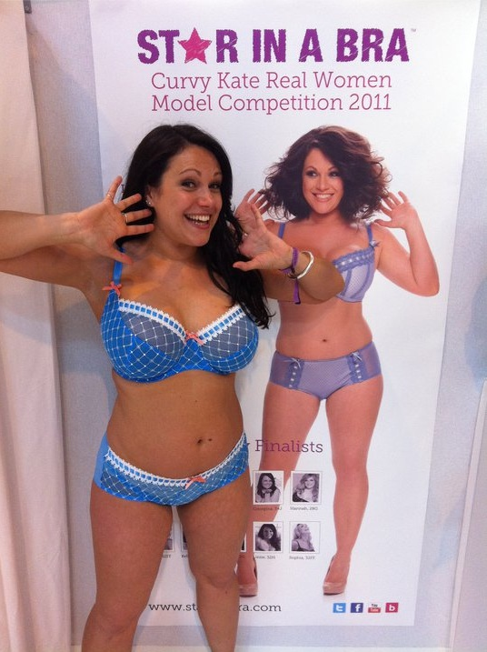 Lizzie in Curvy Kate Angel Bluebell at Trade Show