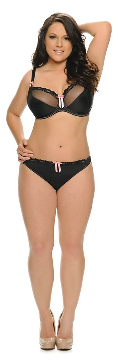 Lizzie in Curvy Kate Lottie Black Pink