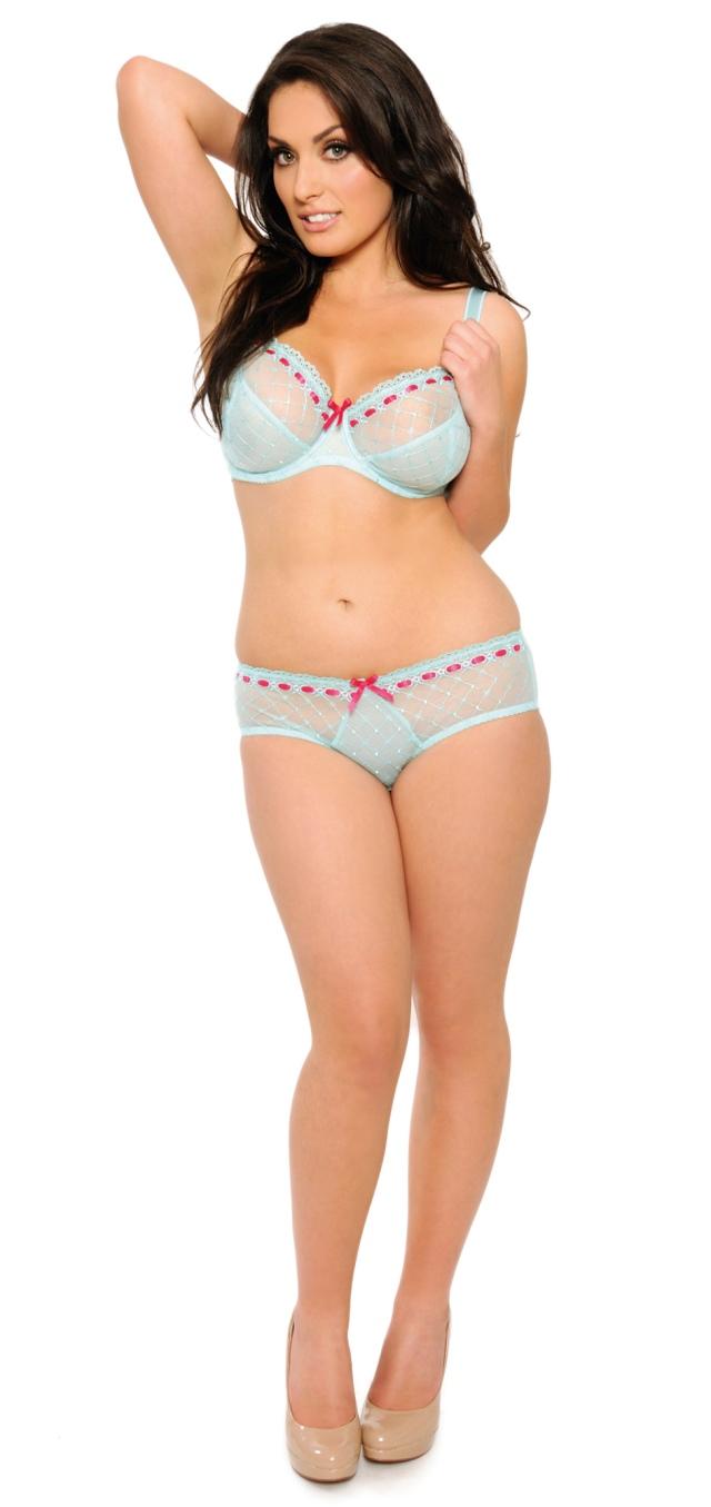 Curvy Kate Portia Bra in Seafoam/Pink