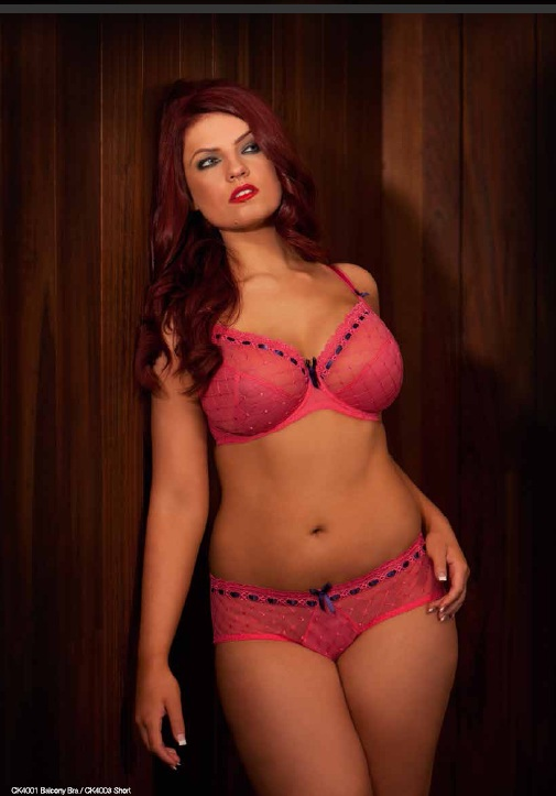 Curvy Kate Portia Watermelon Plum Bra and Shorts