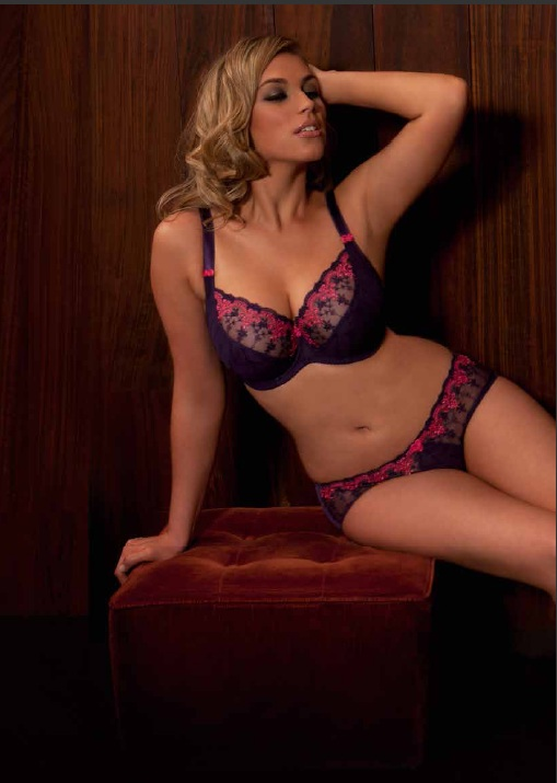 Curvy Kate Romance Plum Watermelon Bra and Shorts